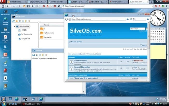 Silverlight operating system