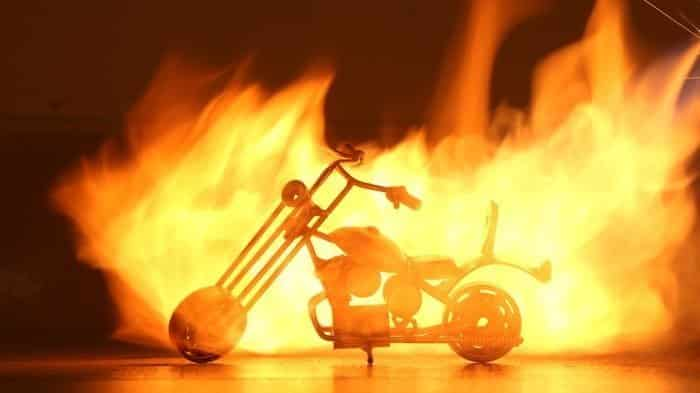 Let's burn a motorbike! Ghost Raider Bike-5