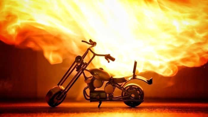 Let's burn a motorbike! Ghost Raider Bike-7