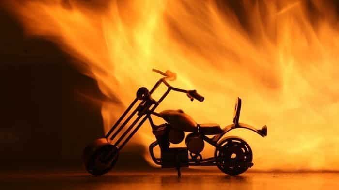Let's burn a motorbike! Ghost Raider Bike