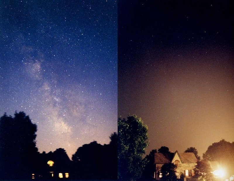 night sky photography and pollution