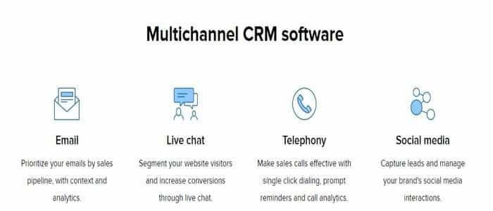 As A Multi-Channel CRM Software