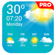 Weather Live Pro to show you accurate weather.