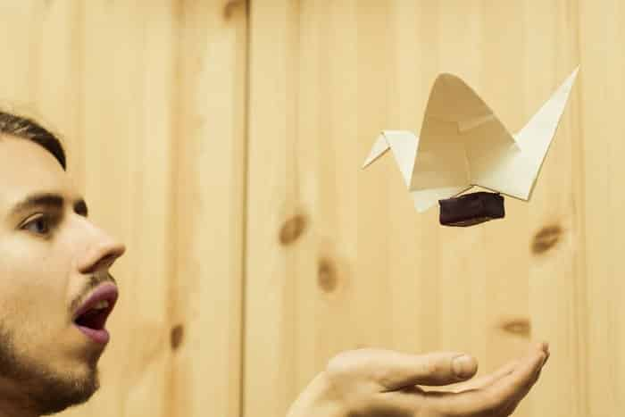 self portrait photography ideas with origami 1