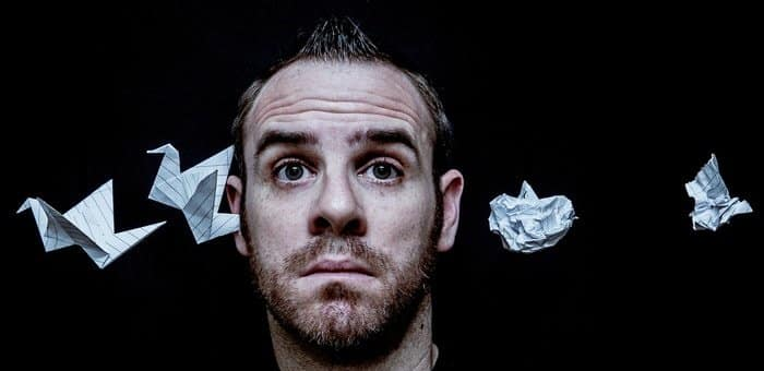 self portrait photography ideas with origami 2