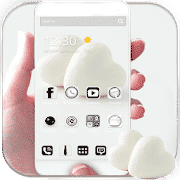 Best themes for android Pure White Love Heart Theme