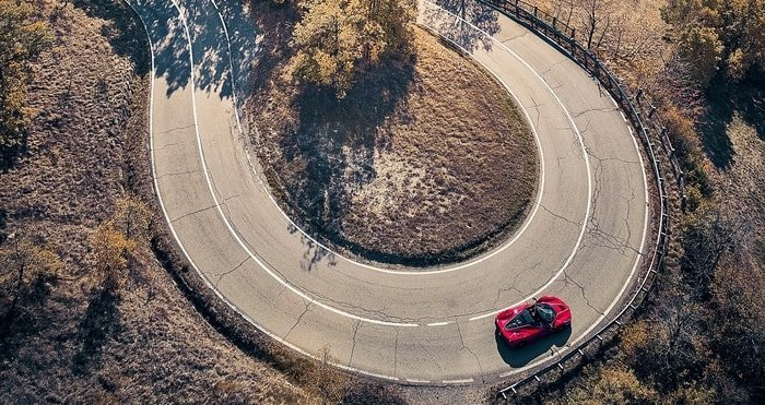 automotive photography aerial