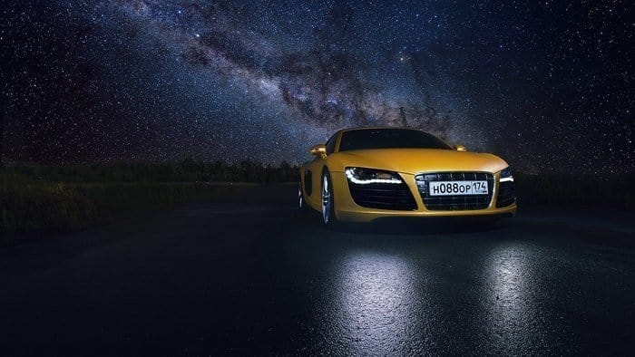 automotive photography at night