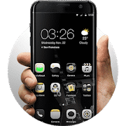 best themes for android Electric Black-launcher Theme