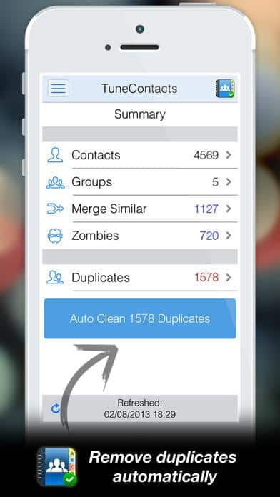 Use Tuneup Contacts