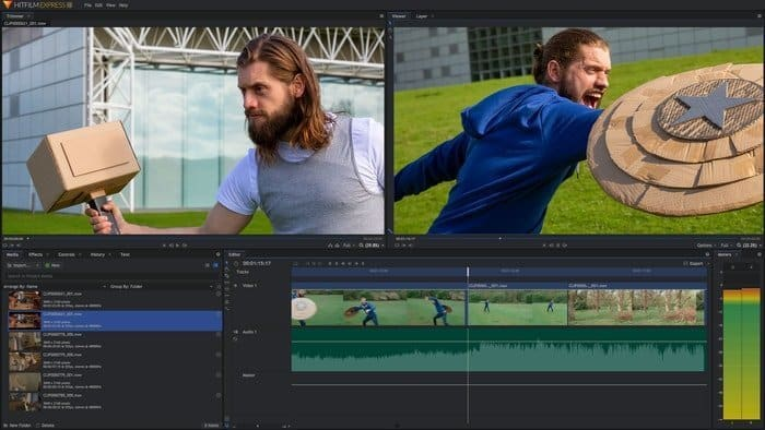 HitFilm Express video editor