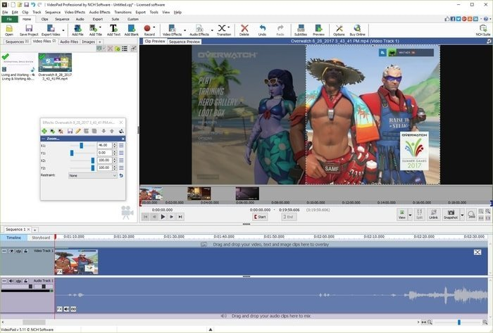 VideoPad Video Editor for Windows
