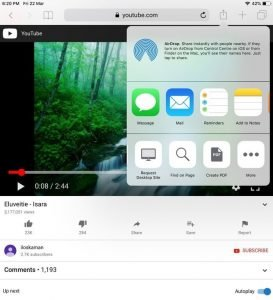 select desktop site play youtube in background iPhone