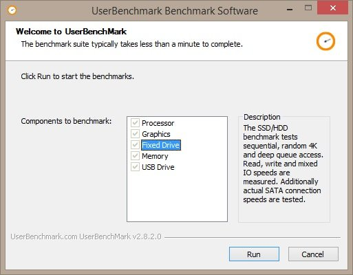 UserBenchmark is the wonderful software to test your PC within a minute.