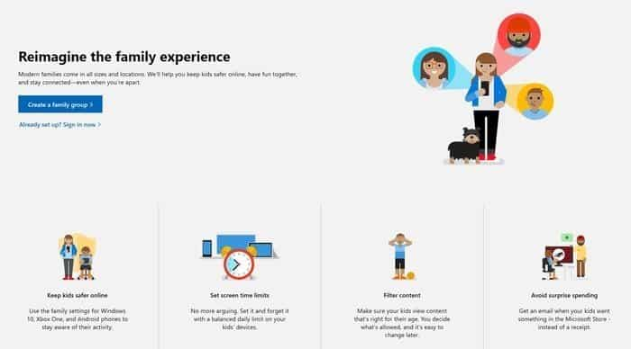 Microsoft Family Features