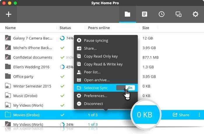 resilio file sharing and sync app