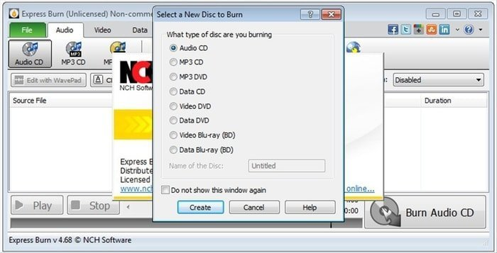 Express Burn Free CD Burning Software