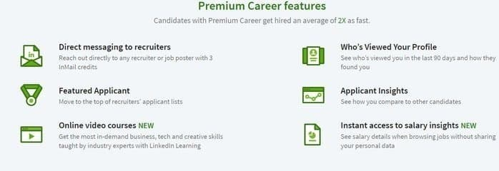 LinkedIn Premium Features Career
