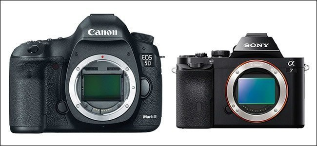 mirrorless vs dslr sensor size