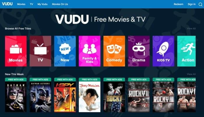 VUDU - watch tv series online free
