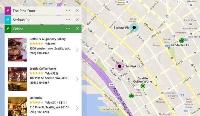 Bing Maps as Google maps alternative