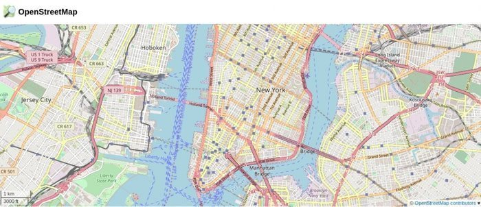 openstreetmap as web mapping service