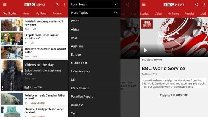 BBC News App: The Traditional and Trustworthy News Aggregator App