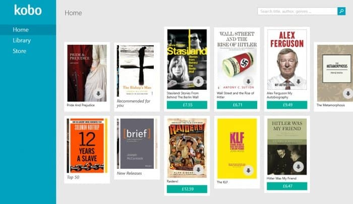 Kobo:A Free Reading App That Functions Like An Online Book Store