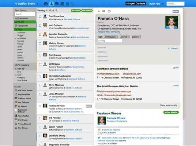 Batchbook CRM is an integrated system that is dedicated to managing relationships with customers.