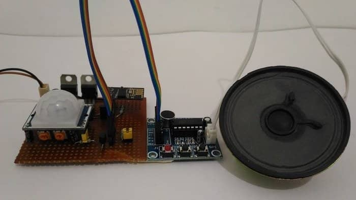IoT Based Security System with Voice Massage