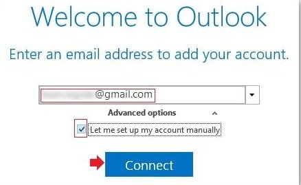 connect gmail with Outlook