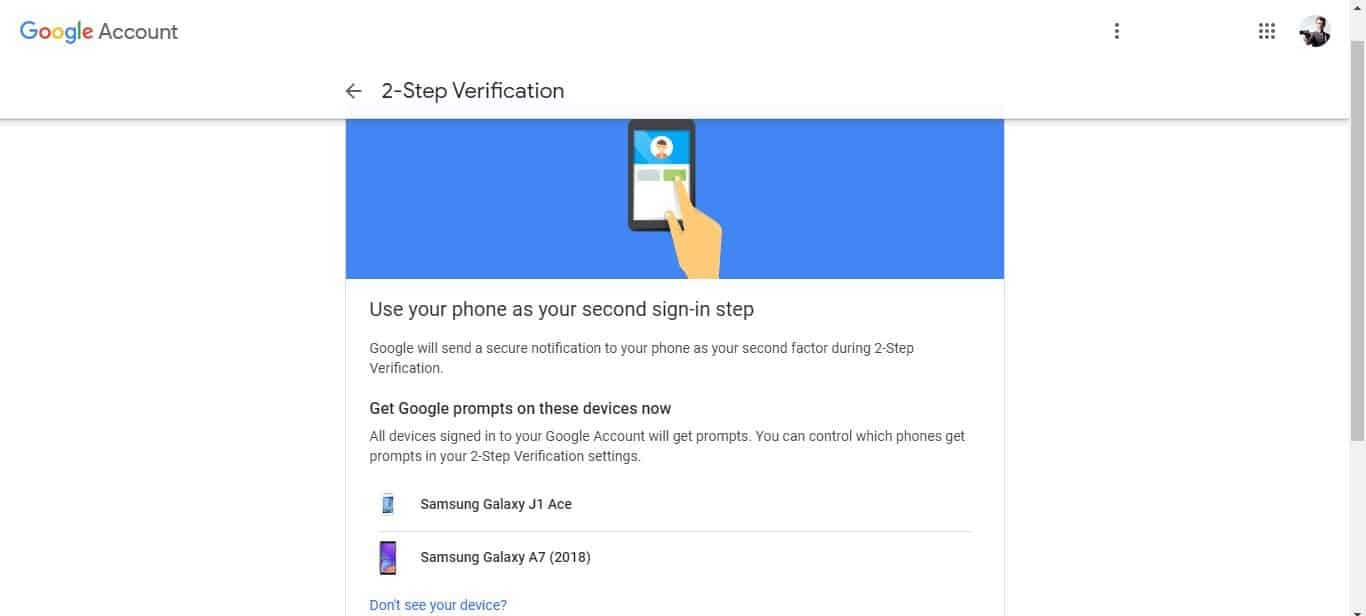 follow the necessary thing for two-step verification