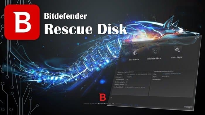 Bitdefender Rescue CD is one of the best Free Bootable Antivirus Disk.