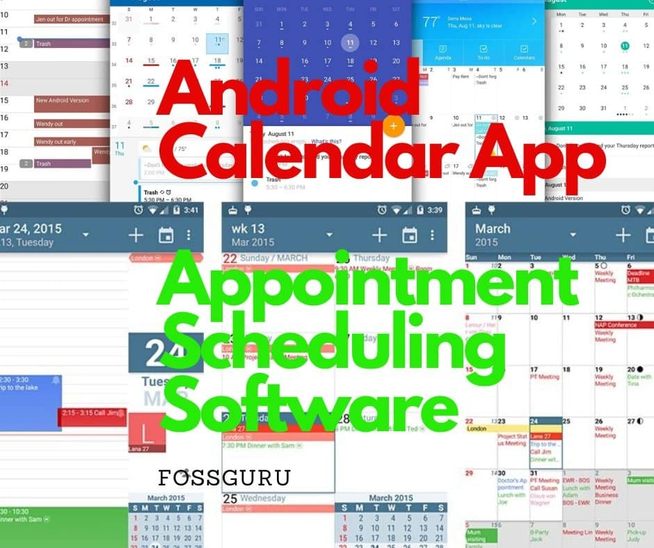 Android Calendar App as Appointment Scheduling Software