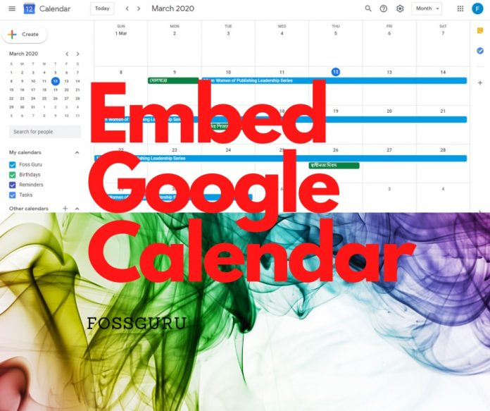 Tips to Embed Google Calendar For Your Website