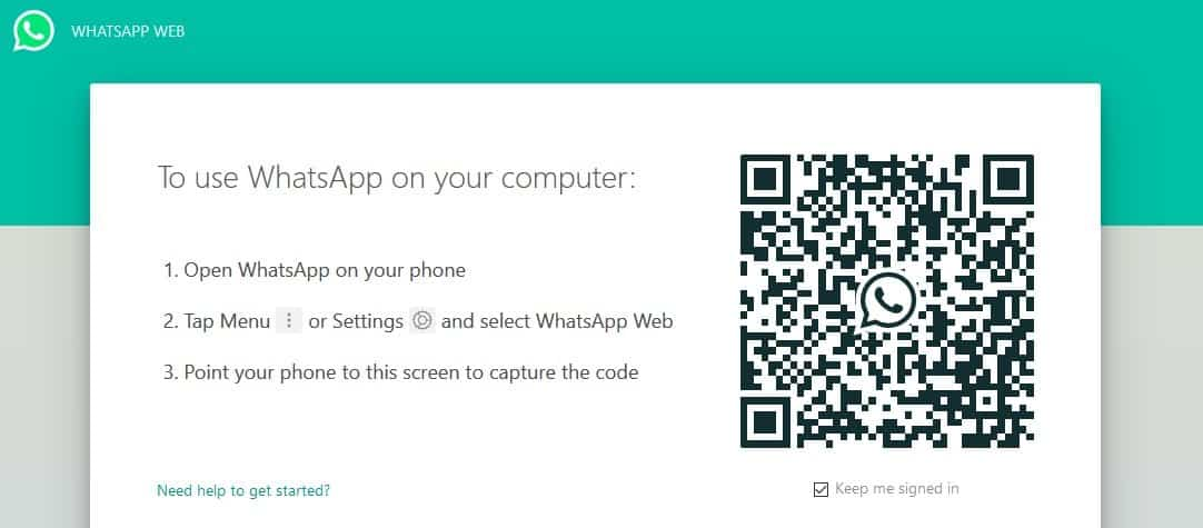 How do I find my WhatsApp QR Code