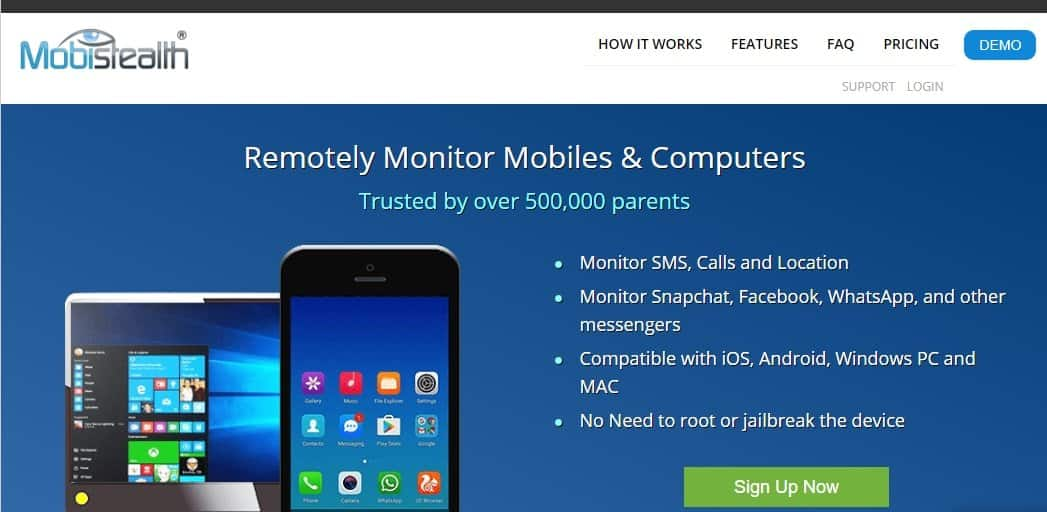 MobiStealth is a renowned smartphone monitoring app