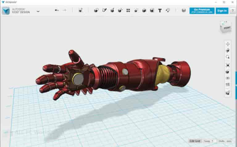 AUTODESK 123D DESIGN STEP file viewer