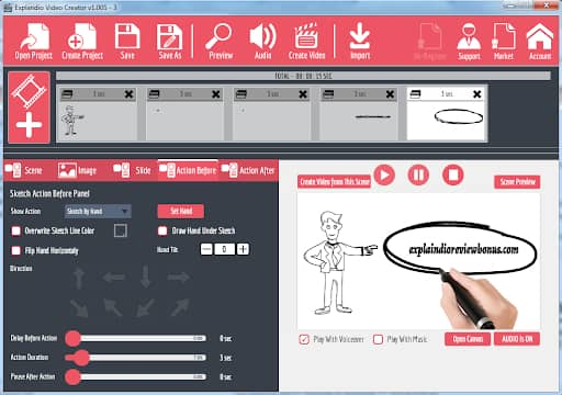 Explaindio Whiteboard Animation Software (Paid)
