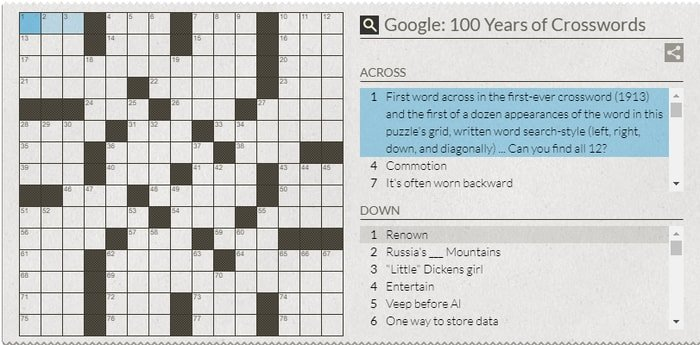 Play a Crossword Puzzle