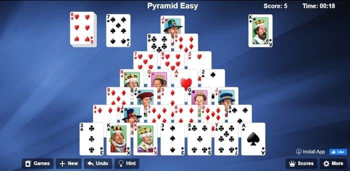 Pyramid Easy Solitaire Google Game