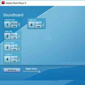 Soundboard powered by Flash Player