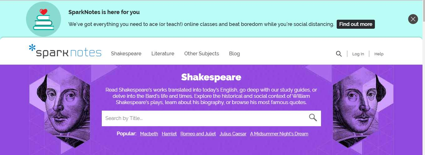 SparkNotes Shakespeare Translator