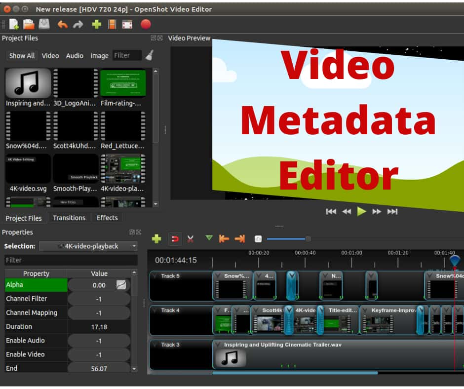 Video Metadata Editor Software to Edit Video Tag