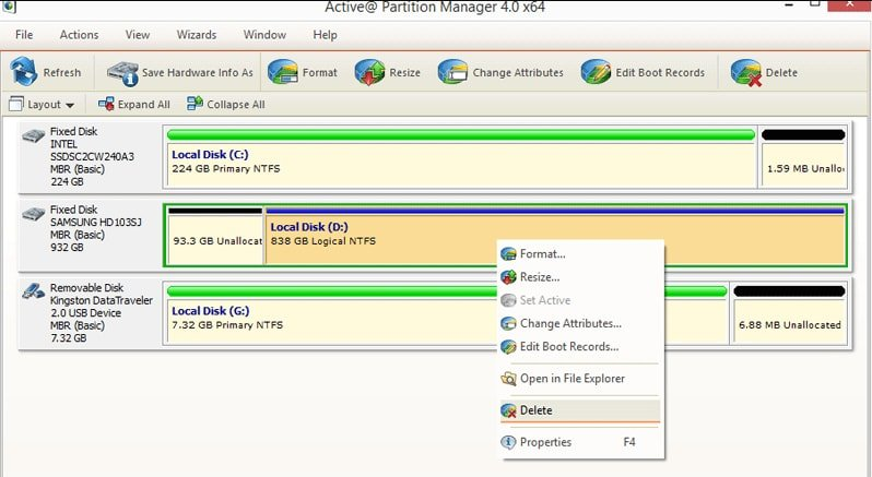 Active@ Partition Manager Windows 10