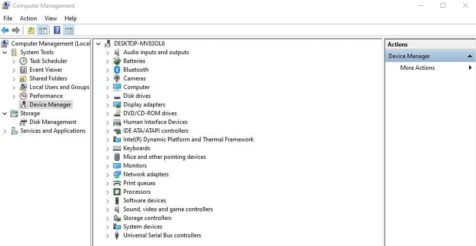 Device Manager to solve Frozen OC