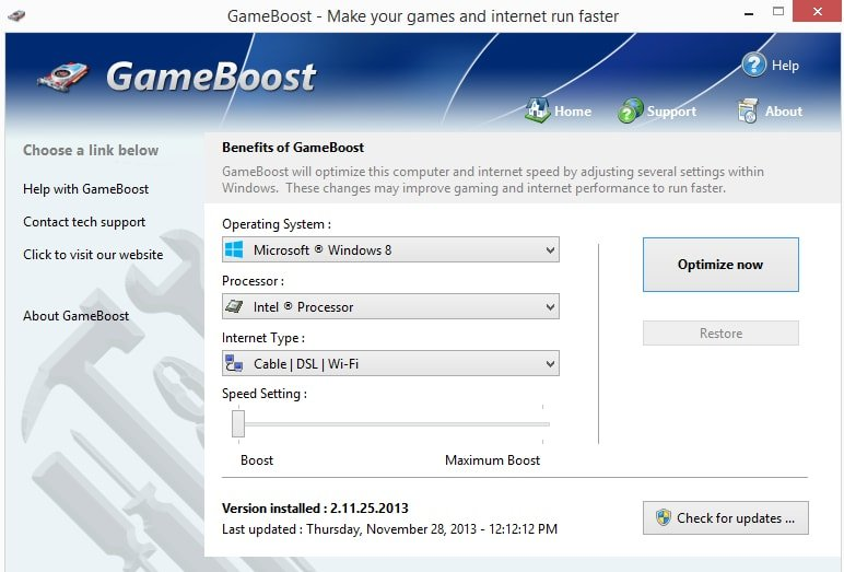 GameBoost Game Booster for Windows