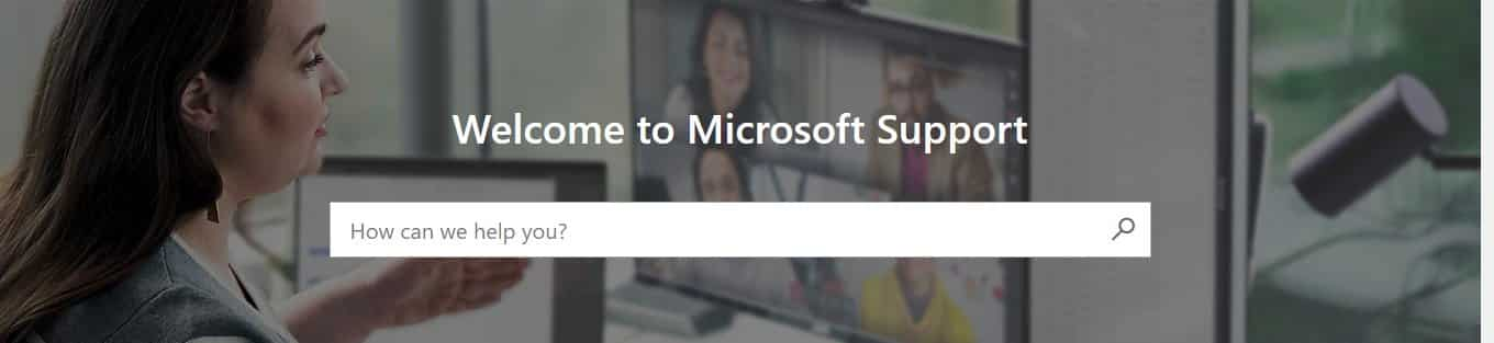 Microsoft Online Support Page