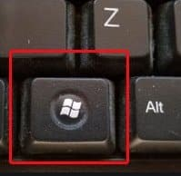 Press the Windows Key