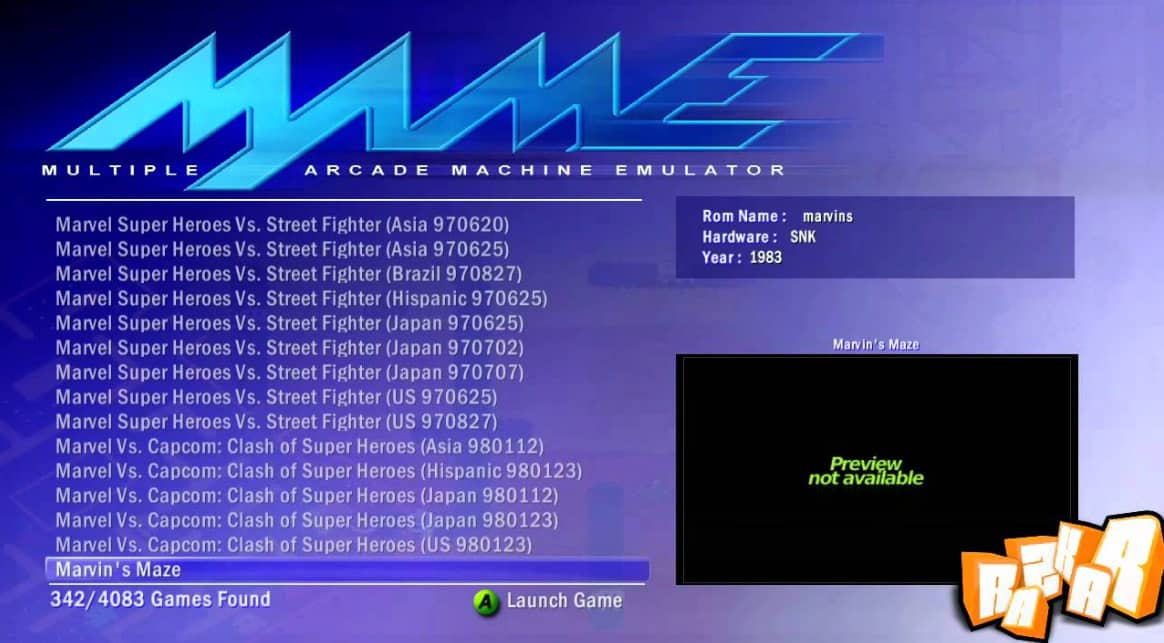 MAME-Best Xbox Emulator For PC